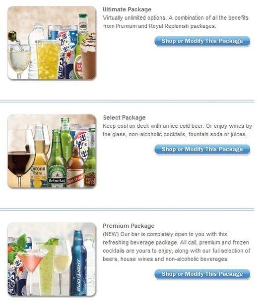 Ultimate Package, Select Package, Premium Package