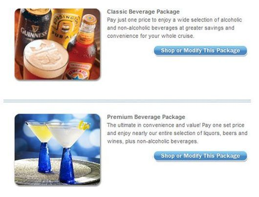 Classic Beverage Package a Premium Beverage Package