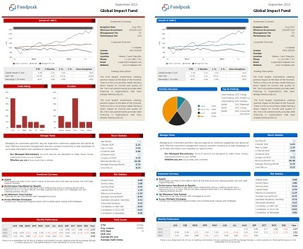 Choose Between Five Default Fund Factsheet Templates - Blog - Fundpeak