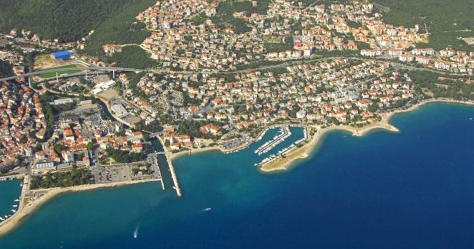 Crikvenica - letecký pohled