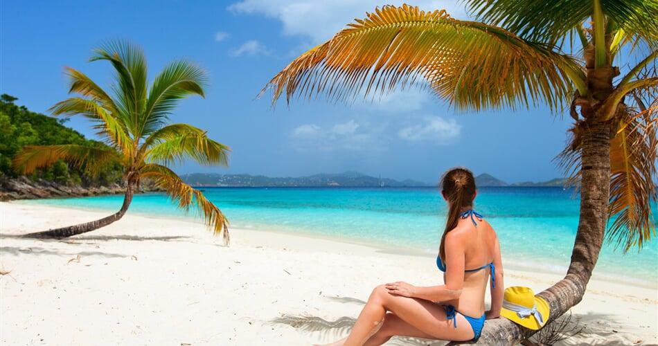 pláže na Sv. Tomáši (Americké Panenské ostrovy)