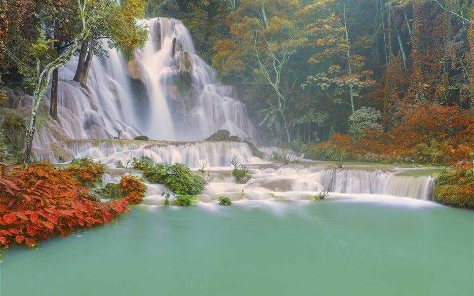 Laos - vodopády Kuang Si