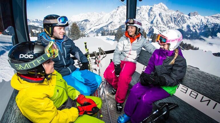 Saalbach Hinterglemm lyžování Rakousko A21
