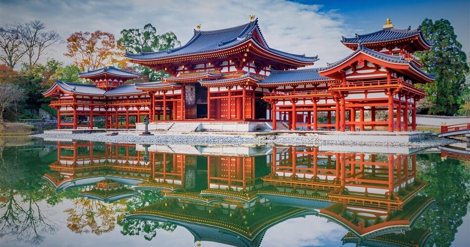 Japonsko - město Kjóto, budhistický chrám Byodo