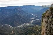 Divisadero - vyhlídka na Měděný kaňon