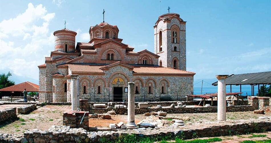 Makedonie Ohrid Basilica