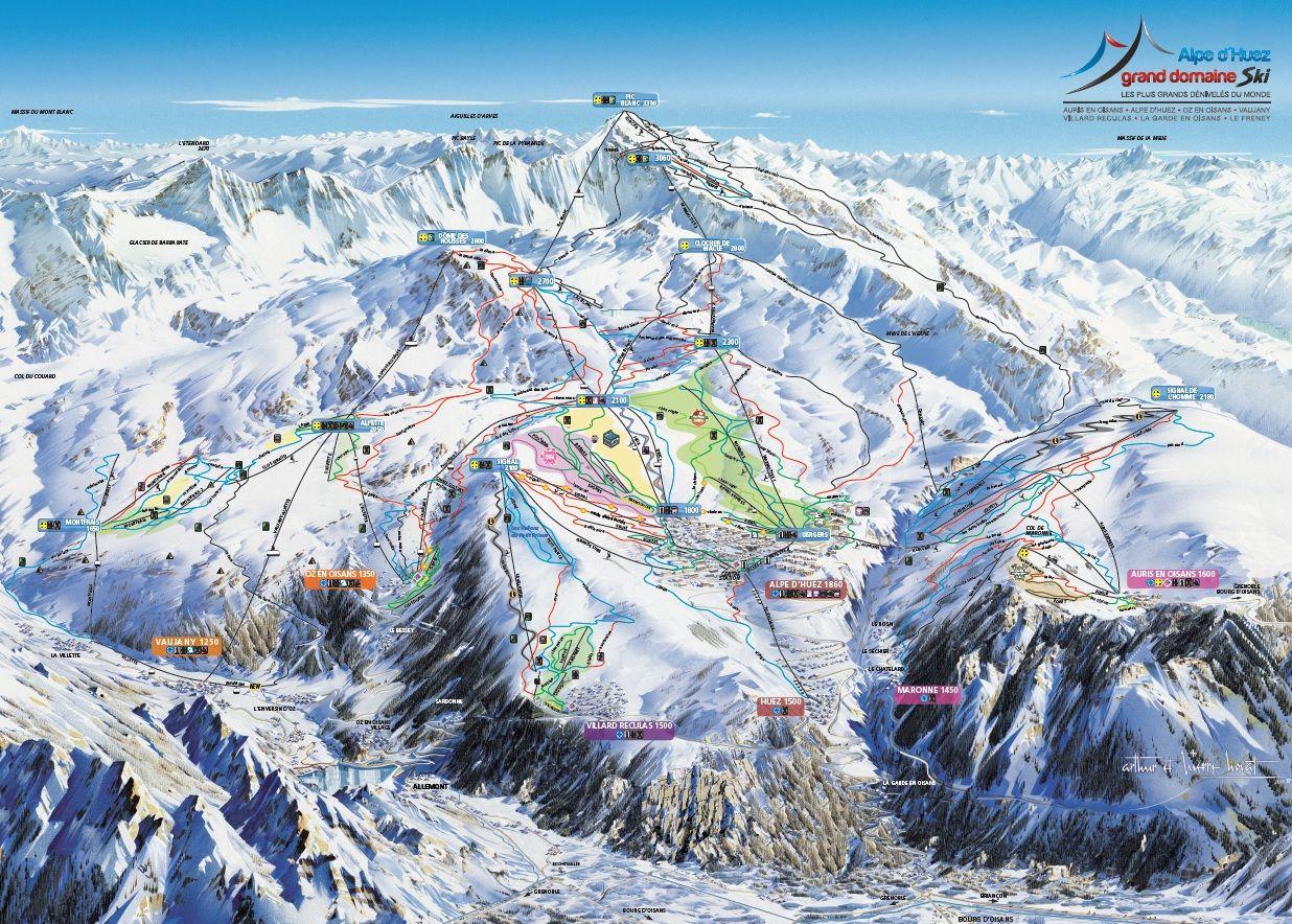 Skimapa Alpe d Huez