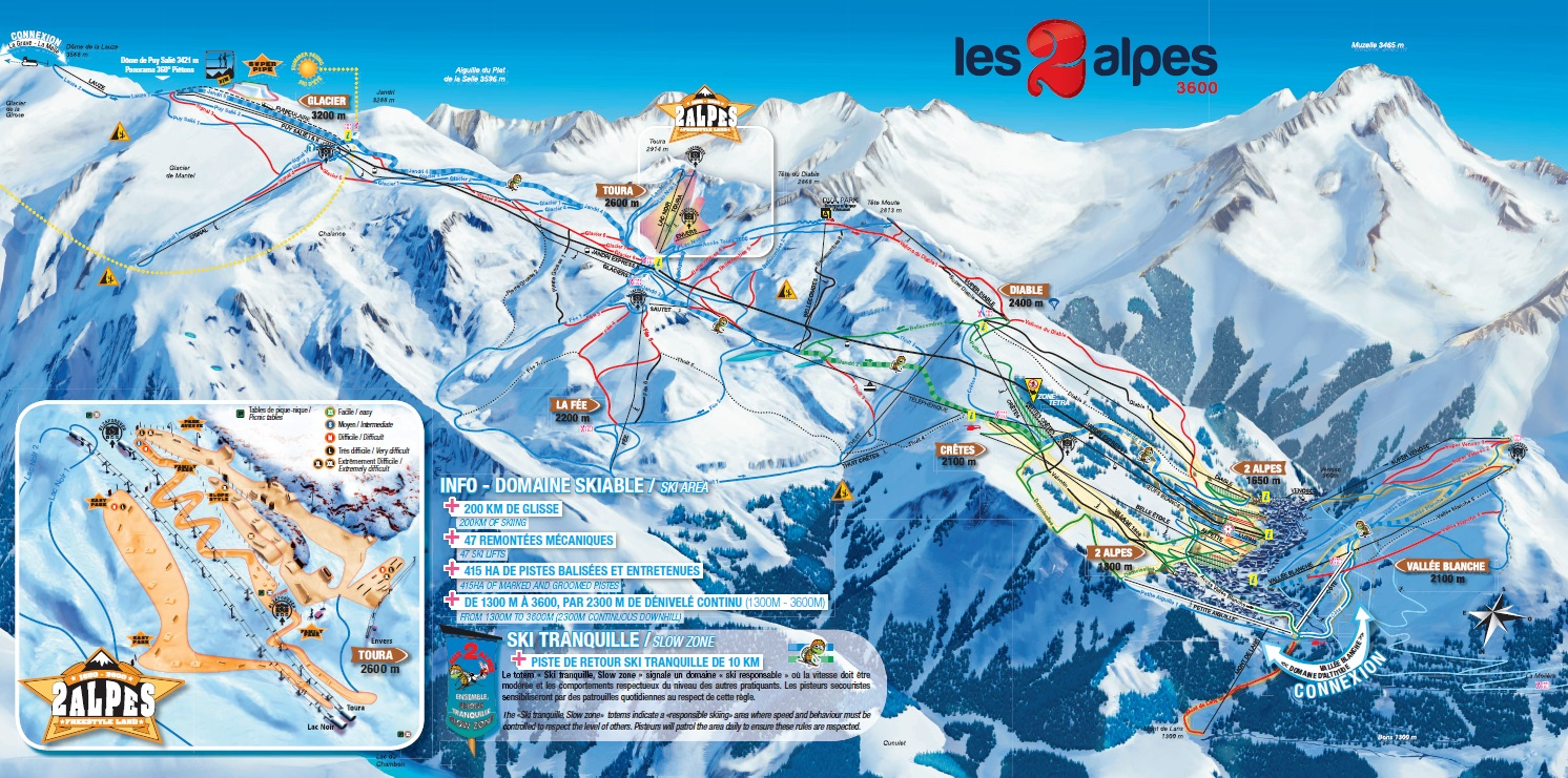 Skimapa FR Deux Alpes 2018
