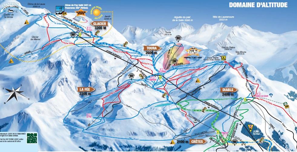 Skimapa FR Deux Alpes 2018 Domaine
