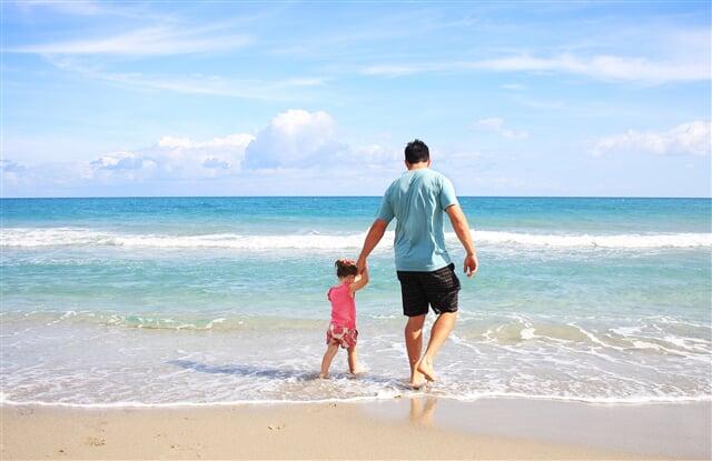 Pláž ideální pro rodinnou dovolenou