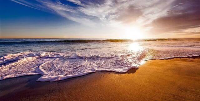 Moře západ slunce