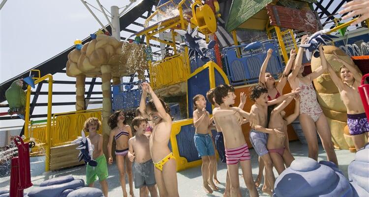Děti na lodi MSC