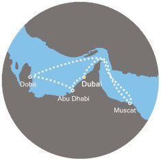 mapka trasy Dubaj
