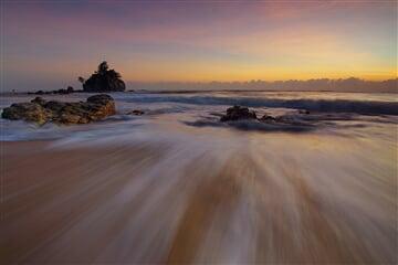 večerní pohyb na pláži