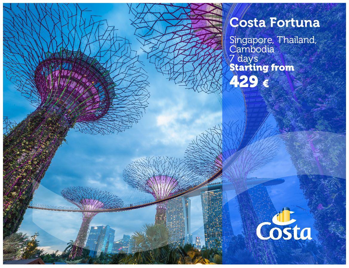 Singapur, plavby Costa
