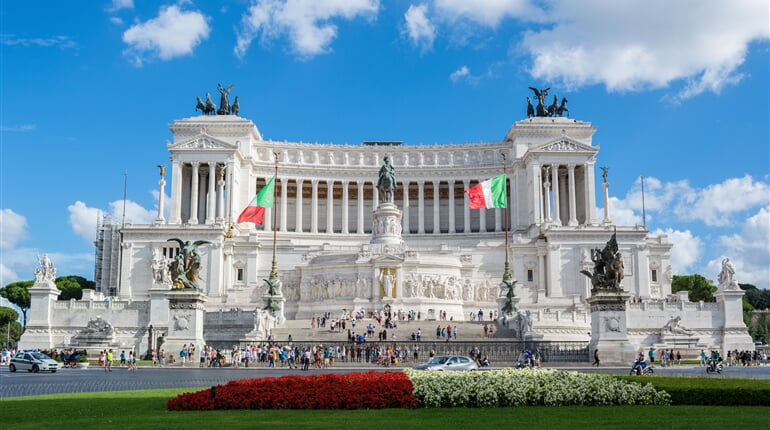 the altar of the fatherland, monument to vittorio emanuele ii, italy