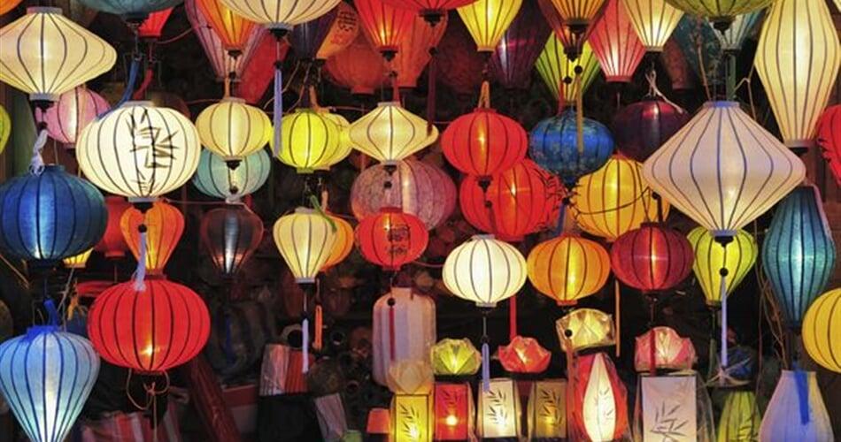 Typické vietnamské lampiony