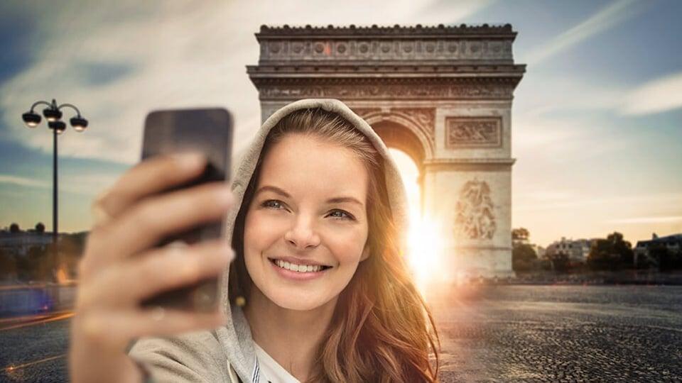 Paris selfie